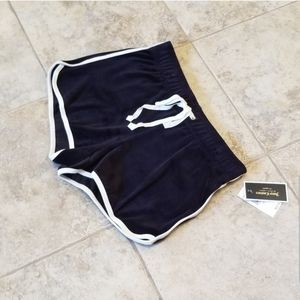 Juicy Couture Shorts - NEW JUICY COUTURE BLACK LABEL VELOUR BLACK SHORTS